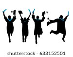 silhouette of graduation... | Shutterstock .eps vector #633152501