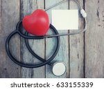 red heart  stethoscope and