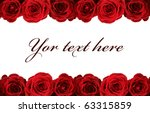 Fresh Red Roses On White...