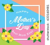 mother's day greeting card with ... | Shutterstock .eps vector #633160481