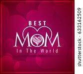 happy mother's day elegant...   Shutterstock .eps vector #633162509