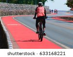 Bicycle Path With A Bicycle...