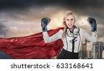 young woman won battle.... | Shutterstock . vector #633168641