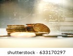 coin money with finance and... | Shutterstock . vector #633170297