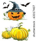 vector jack o lantern pumpkin.... | Shutterstock .eps vector #63317407