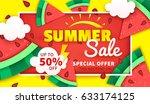 summer sale colorful banner... | Shutterstock .eps vector #633174125