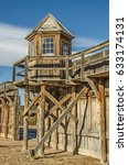 Wooden Lookout Tower At Wyomin...