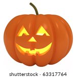 happy halloween pumpkin  jack o ... | Shutterstock . vector #63317764