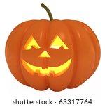 happy halloween pumpkin  jack o ... | Shutterstock . vector #63317764