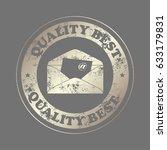 envelope mail icon  vector... | Shutterstock .eps vector #633179831