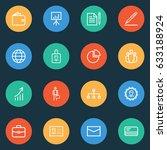 job outline icons set.... | Shutterstock .eps vector #633188924