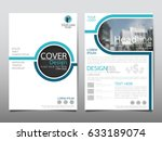 blue flyer cover business... | Shutterstock .eps vector #633189074