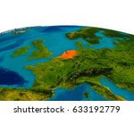 netherlands highlighted in red...   Shutterstock . vector #633192779