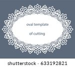 greeting  card with decorative  ... | Shutterstock .eps vector #633192821