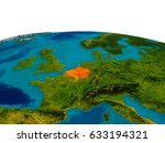 belgium highlighted in red on... | Shutterstock . vector #633194321