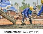 construction worker concrete... | Shutterstock . vector #633194444
