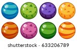 round beads in different design ... | Shutterstock .eps vector #633206789