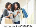 happy african american women... | Shutterstock . vector #633209534