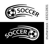 soccer ball motion line symbol... | Shutterstock .eps vector #633212831