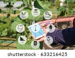 agricultural technology and... | Shutterstock . vector #633216425