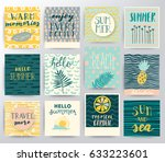 abstract vector tropical set | Shutterstock .eps vector #633223601