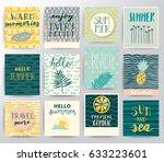 abstract vector tropical set | Shutterstock .eps vector #633223601