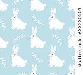 seamless hare pattern. cute... | Shutterstock . vector #633230501