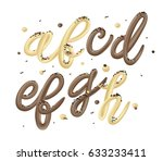 delicious chocolate and vanilla ... | Shutterstock .eps vector #633233411