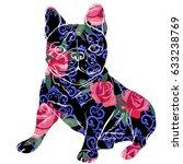 bulldog silhouette  vector ... | Shutterstock .eps vector #633238769