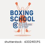 vector boxing badge for any use | Shutterstock .eps vector #633240191
