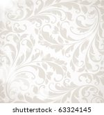 Wallpaper With Floral Ornament...