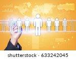 human resource management  hr ...   Shutterstock . vector #633242045
