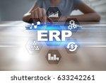 enterprise resources planning...   Shutterstock . vector #633242261