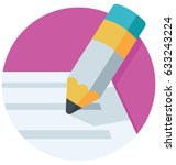 writing vector icon  | Shutterstock .eps vector #633243224