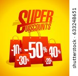 super discounts vector sale... | Shutterstock .eps vector #633248651