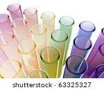 multi colour test tubes | Shutterstock . vector #63325327