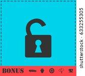 unlock icon icon flat. simple...