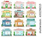 set of detailed flat design... | Shutterstock .eps vector #633258215
