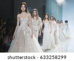 barcelona   april 27  models... | Shutterstock . vector #633258299