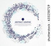radial lattice graphic design ... | Shutterstock .eps vector #633258719