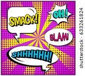 abstract creative concept comic ... | Shutterstock .eps vector #633261824