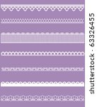 straight lace set | Shutterstock .eps vector #63326455