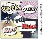 abstract creative concept comic ... | Shutterstock .eps vector #633265934