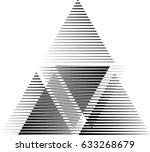vector hipster triangle... | Shutterstock .eps vector #633268679