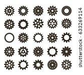 metal gears set. factory gears...   Shutterstock .eps vector #633269114