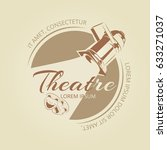 theatre banner design   art... | Shutterstock .eps vector #633271037