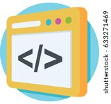 div vector icon  | Shutterstock .eps vector #633271469
