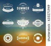 summer season sale badges and... | Shutterstock .eps vector #633271949