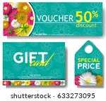 discount voucher template with... | Shutterstock .eps vector #633273095