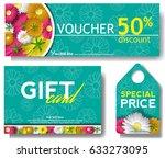 discount voucher template with... | Shutterstock .eps vector #633273095